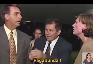 Bolsonaro durante discussão com a deputada Maria do Rosário na Câmara Foto: Reprodução/ propaganda eleitoral
