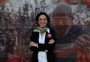 A candidata do PT ao governo do Rio, Marcia Tiburi Foto: Custódio Coimbra / Agência O Globo