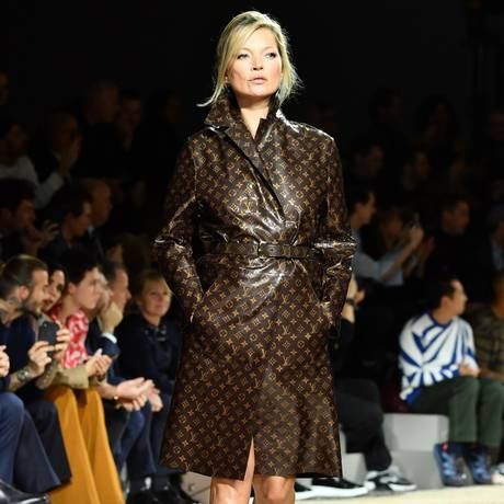 Kate Moss na passarela da Louis Vuitton em 2018 Foto: Pascal Le Segretain / Getty Images