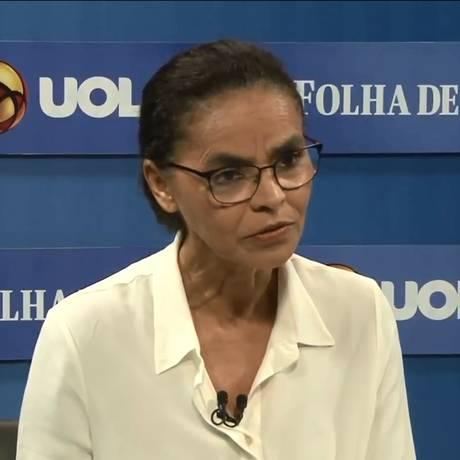 Marina foi a segunda candidata a ser sabatinada por Folha, UOL e SBT Foto: Reprodução