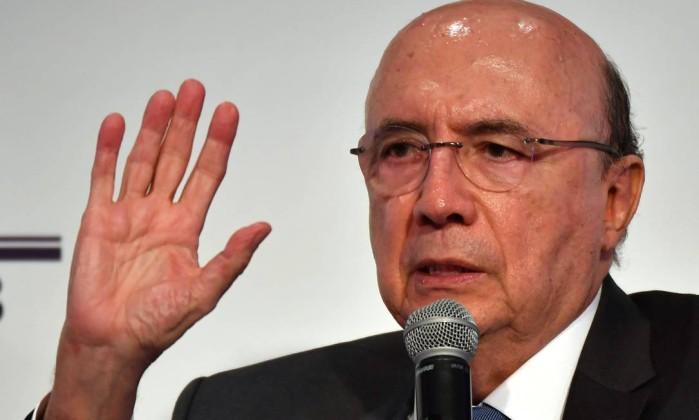 O candidato do MDB, Henrique Meirelles Foto: Nelson Almeida / AFP