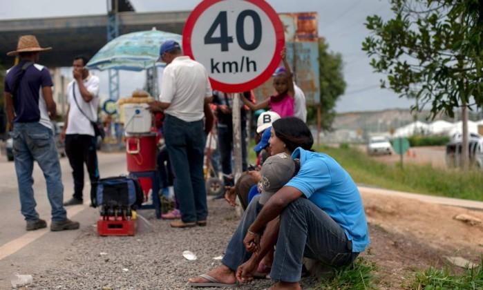 A fronteira entre Brasil e Venezuela, na cidade de Pacaraima, em Roraima Foto: Mauro Pimentel / AFP