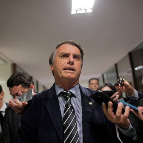 Jair Bolsonaro, durante entrevista na Câmara dos Deputados Foto: Adriano Machado/Reuters