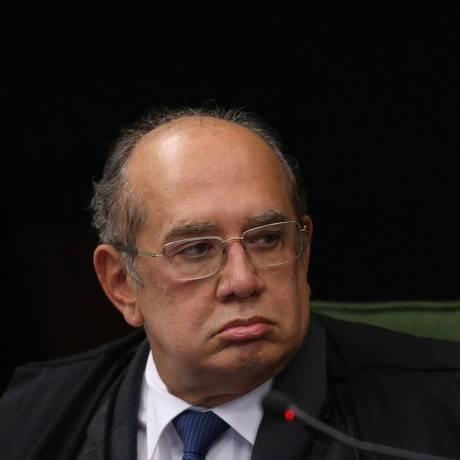 O ministro Gilmar Mendes, durante a sessão da Segunda Turma do STF Foto: Ailton de Freitas / Agência O Globo