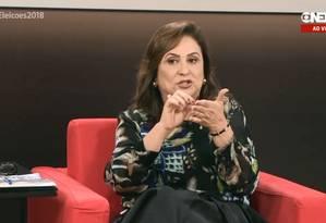 Kátia Abreu (PDT), vice-candidata de Ciro Gomes à Presidência Foto: Reprodução