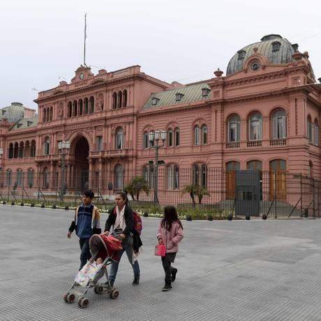 Casa Rosada, sede da presidência argentina, em Buenos Aires Foto: JUAN MABROMATA / AFP