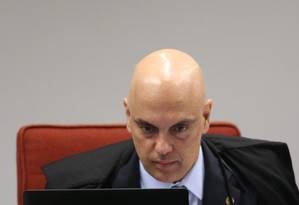 O ministro Alexandre de Moraes, durante sessão da Primeira Turma Foto: Ailton de Freitas / Agência O Globo