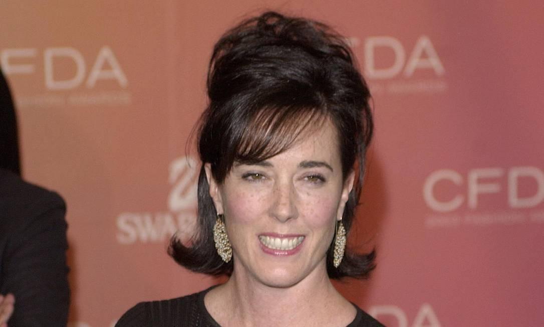 A estilista americana Kate Spade, que se suicidou recentemente aos 55 anos, em foto de 2003: transtorno pode estar por trás do forte aumento nos suicídios de mulheres de meia-idade nos últimos anos nos EUA Foto: / Chip East/Reuters/02-06-2003