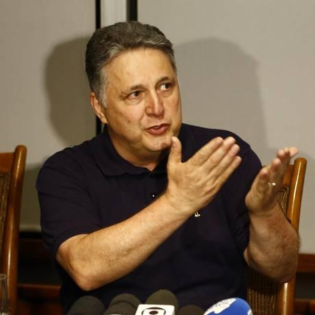 O candidato ao governo, Anthony Garotinho, em entrevista coletiva Foto: Uanderson Fernandes / Agência O Globo