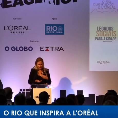 An Verhulst-Santos, presidente da L'Oréal Brasil, no seminário Reage Rio Foto: Reprodução