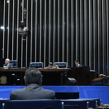 Plenário do Senado Federal durante sessão deliberativa extraordinária Foto: Edilson Rodrigues / Agência Senado