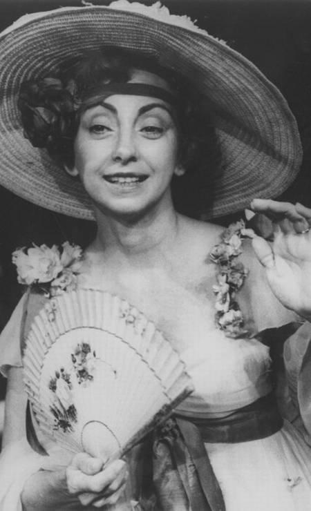 Beatriz Segall em foto de 1976, ano em que gravou o filme 'À flor da pele', de Francisco Ramalho Jr Foto: Reprodução