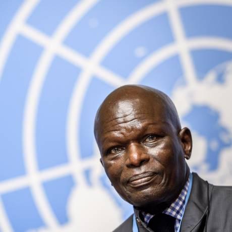 Doudou Diene, presidente Comissão de Inquérito da ONU no Burundi, alerta sobre incitação a crimes contra humanidade Foto: FABRICE COFFRINI / AFP