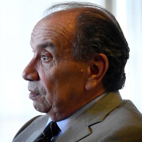 O ministro das Relações Exteriores, Aloysio Nunes, em entrevista no Itamaraty Foto: Evaristo Sá / AFP