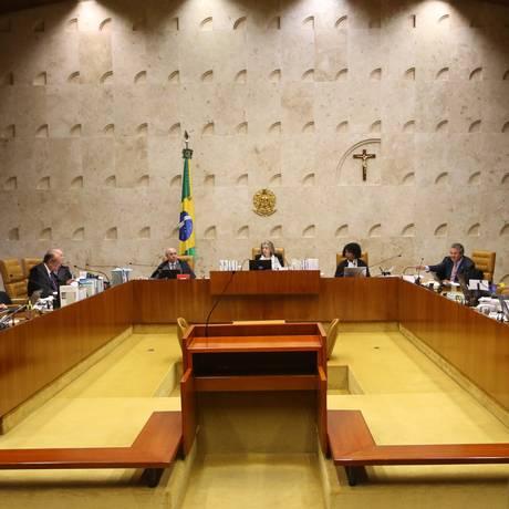 Plenário do Supremo Tribunal Federal Foto: Ailton de Freitas / Agência O Globo