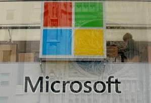 Loja da Microsoft em Nova York Foto: CARLO ALLEGRI / REUTERS