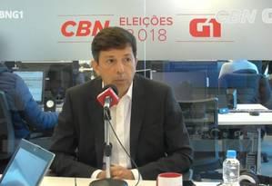 Entrevista de João Amoêdo ao G1 e à CBN Foto: Reprodução