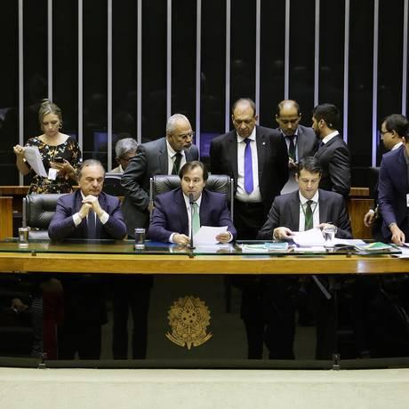O presidente da Câmara, Rodrigo Maia, comanda sessão Foto: Maryanna Oliveira/Câmara dos Deputados/04-09-2018