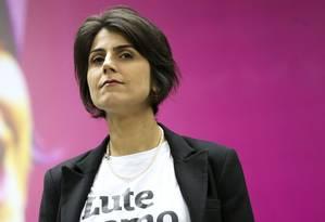 A ex-deputada Manuela d'Ávila (PCdoB-RS) negou irregularidades no contato com o hacker Foto: Marcelo Camargo / Agência Brasil