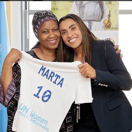 Marta e diretora da ONU Foto: Reprodução