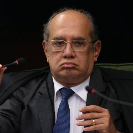 O ministro Gilmar Mendes, durante sessão da Segunda Turma do STF Foto: Ailton de Freitas/Agência O Globo/04-09-2018