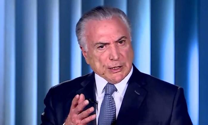 "O presidente Michel Temer acusou Geraldo Alckmin de divulgar ""falsidades"" Foto: Reproduçao/Twitter"