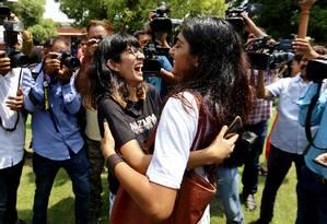 População LBGT celebra decisão da Suprema Corte indiana que descriminalizou a homossexualidade Foto: STRINGER / REUTERS