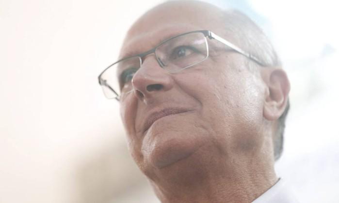 O candidato Geraldo Alckmin Foto: Marcos Alves / Agência O Globo