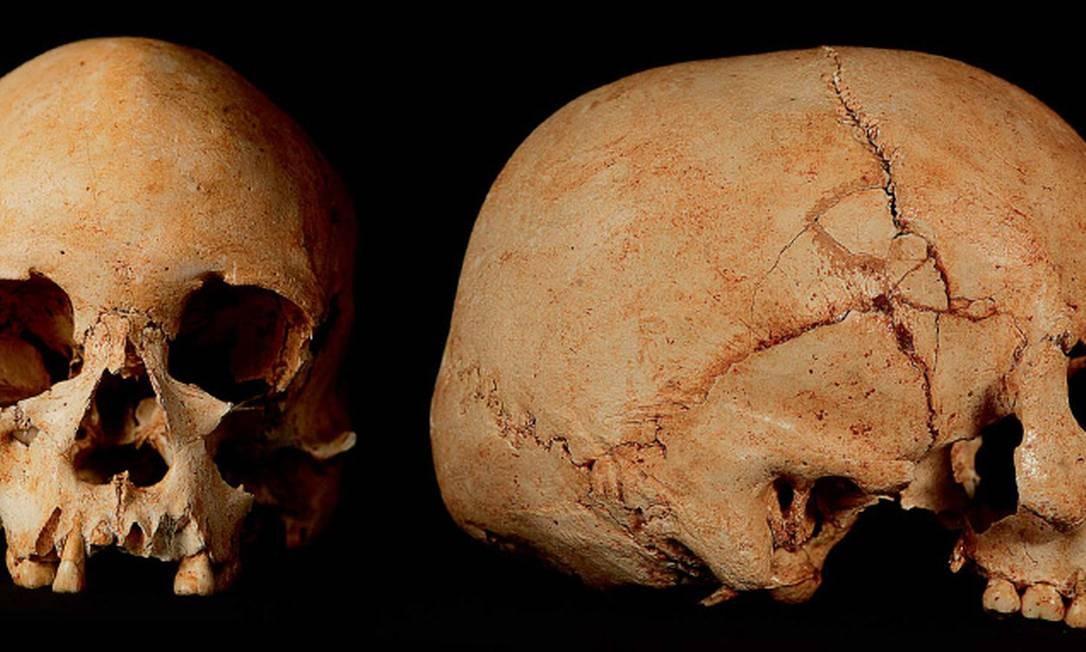 Crânio de Luzia, a mulher mais antiga do Brasil, encontrado em sítio arqueológico de Lagoa Santa, Minas Gerais Foto: Marizilda Cruppe