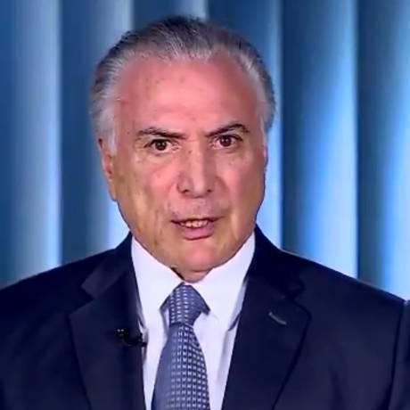 O presidente Michel Temer gravou vídeo para rebater críticas de Fernando Haddad Foto: Reprodução/Twitter