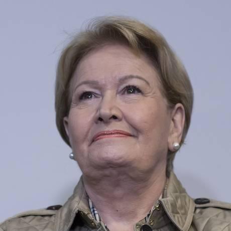A senadora Ana Amélia (PP), candidata a vice na chapa de Geraldo Alckmin (PSDB) Foto: Edilson Dantas / Agência O Globo
