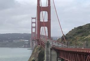 Golden Gate. Atravessar a ponte é programa básico em São Francisco Foto: Fotos de Henrique Gomes Batista