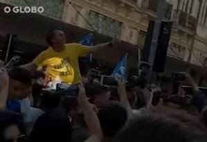 Candidato do PSL foi atingido durante agenda em Juiz de Fora, Minas Gerais Foto: Reprodução
