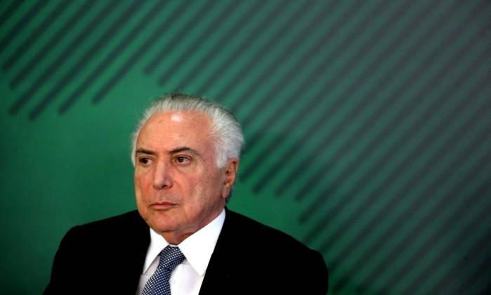 O presidente Michel Temer Foto: Ailton de Freitas / Agência O Globo
