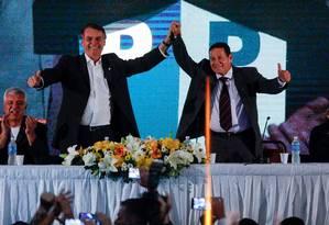 General Hamilton Mourão na convenção em que foi confirmado como vice de Bolsonaro Foto: Marcelo Chello / Agência O Globo