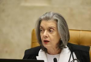 A ministra Cármen Lúcia, durante sessão do STF Foto: Ailton de Freitas/Agência O Globo/05-09-2018