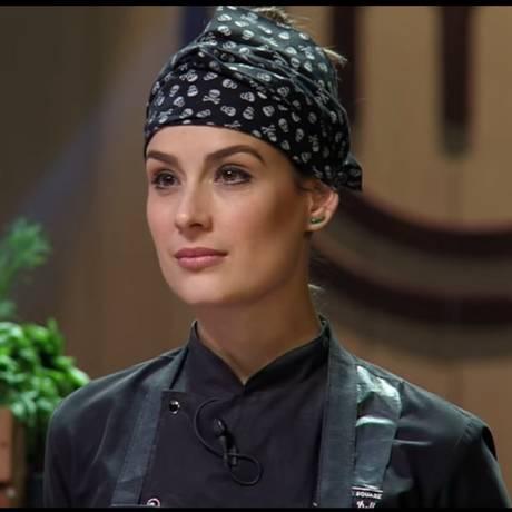 """Heaven Delhaye no primeiro episódio da terceira temporada do """"MasterChef Brasil profissionais"""" Foto: Reprodução"""