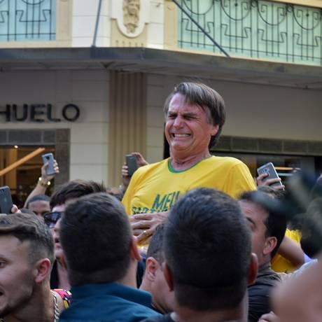 Candidato foi atacado em Juiz de Fora, Minas Gerais Foto: RAYSA LEITE / AFP