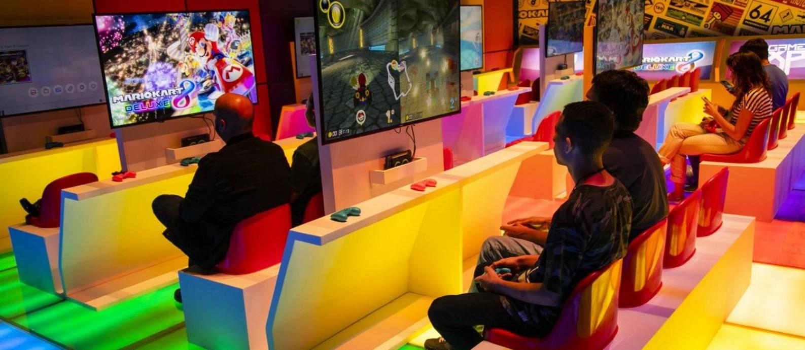 Game XP: na Barra, o primeiro game park do mundo Foto: Leo Martins / Agência O Globo