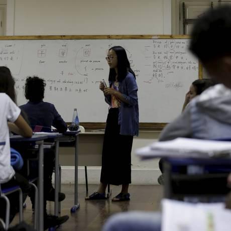 Colégio Estadual Joaquim Gomes de Souza , melhor escola pública na pontuação do IDEB. Foto: Marcelo Theobald / Agência O Globo