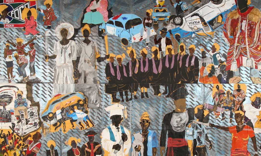 Histórias Afro-Atlânticas (Masp e Instituto Tomie Ohtake) — Reunindo mais de 400 obras de 210 artistas nacionais e internacionais, a coletiva aborda, até 21/10, temas ligados ao fluxo de populações escravizadas entre a África e as Américas e as relações estabelecidas a partir destes cruzamentos culturais. Maxwell Alexandre/Divulgação