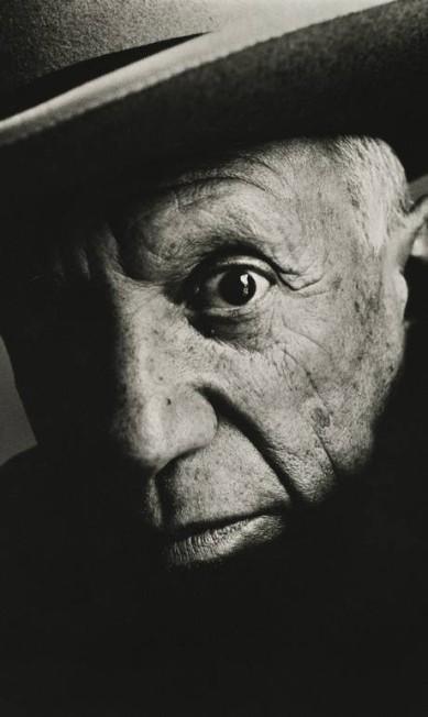 """SC - Pablo Picasso em La Californie, Cannes, 1957, na mostra """"Irving Penn: Centenário"""" no Instituto Moreira Salles de SP Irving Penn/Divulgação/The Irving Penn Foundation / Divulgação/The Irving Penn Foundation"""
