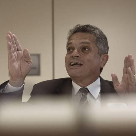 O deputado federal João Rodrigues, durante entrevista coletiva Foto: Daniel Marenco/Agência O Globo/11-06-2018