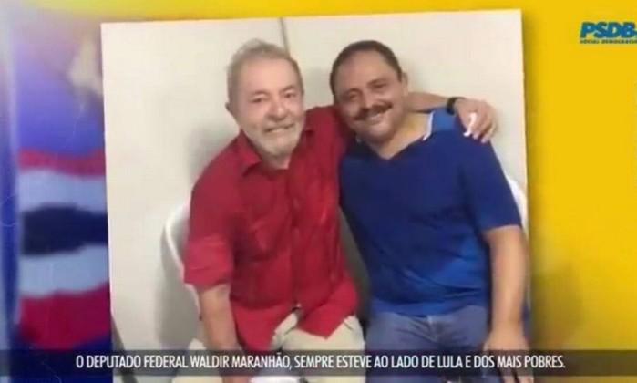 Waldir Maranhão e o ex-presidente Lula Foto: Reprodução / Reprodução