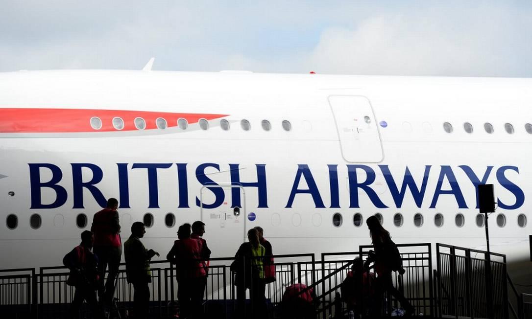 Dados de cerca de 380 mil clientes da British Airways foram roubados por hackers Foto: / Paul Hackett/Reuters