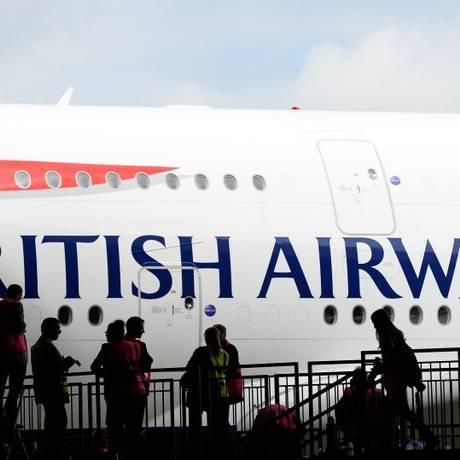 Dados de cerca de 380 mil clientes da British Airways foram roubados por hackers Foto: Paul Hackett/Reuters
