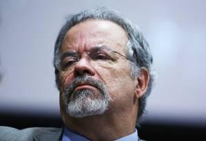 O ministro da Segurança Pública, Raul Jungmann, no auditório do Conselho da Justiça Federal Foto: Ailton de Freitas/Agência O Globo/03-09-2018