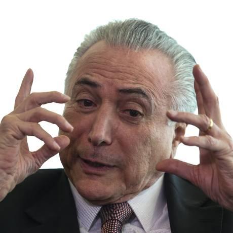 O presidente Micher Temer, que acusa os candidatos ao Palácio do Planalto de mentirem sobre seu governo Foto: André Coelho / Agência O Globo