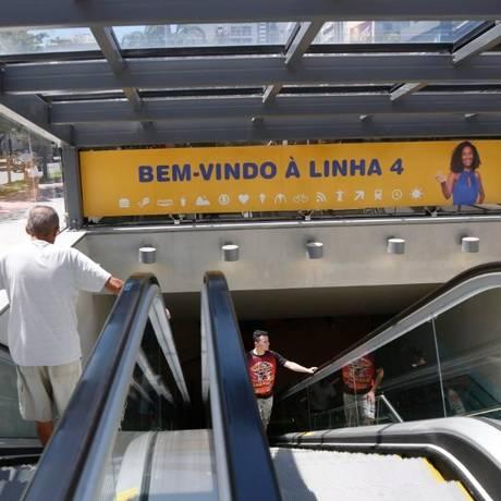 Linha 4 do MetrôRio tem oportunidade para abertura de negócios Foto: Marcelo Carnaval