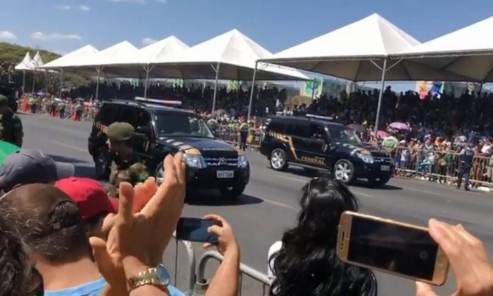 Desfile de 7 de setembro Foto: Reprodução